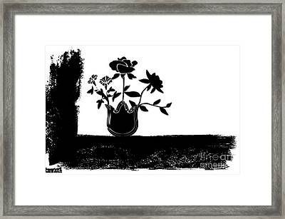 Black Flowers Framed Print by Tina M Wenger