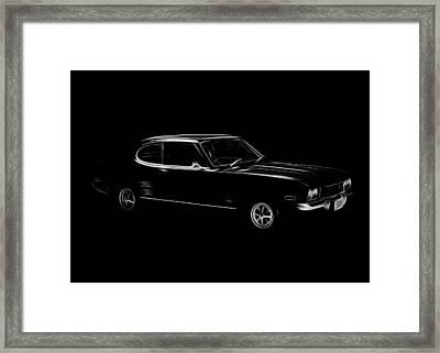 Black Ford Capri Framed Print by Steve K
