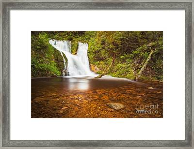 Framed Print featuring the photograph Black Forrest Waterfall by Maciej Markiewicz