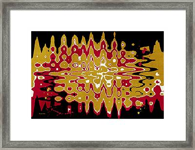 Black Gold Abstract Framed Print