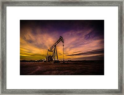 Black Gold Framed Print