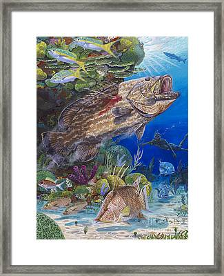 Black Grouper Hole Framed Print by Carey Chen