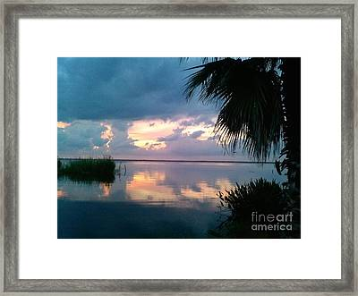 Black Hammock Sunset 3 Framed Print