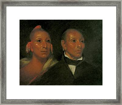 Black Hawk And His Son Whirling Thunder Framed Print