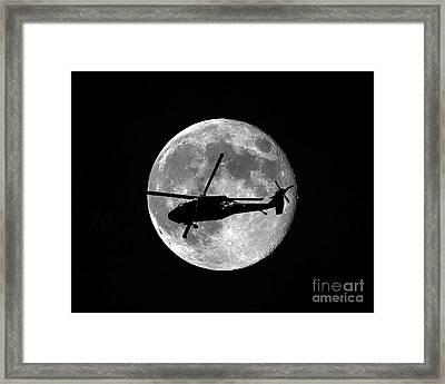 Black Hawk Moon Framed Print