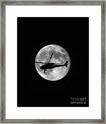 Black Hawk Moon Vertical Framed Print by Al Powell Photography USA