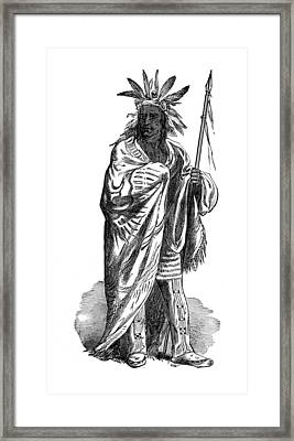 Black Hawk, Sauk Indian Leader Framed Print by British Library