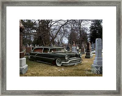 Black Hearse Framed Print by Tom Straub