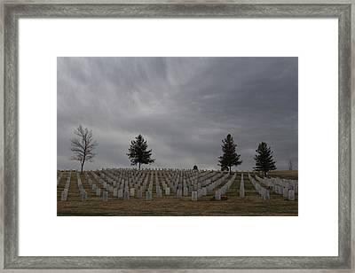 Black Hills Cemetery Framed Print