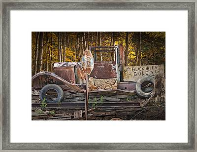 Black Hills Gold Truck Sign Framed Print by Randall Nyhof