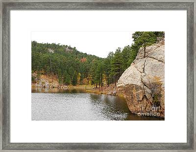 Framed Print featuring the photograph Black Hills Lake by Mary Carol Story