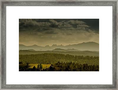 Black Hills Layers Framed Print