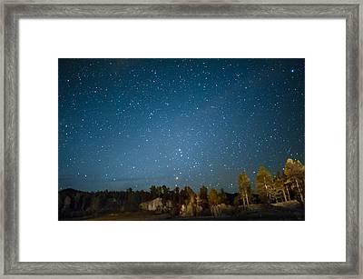 Black Hills Night Framed Print