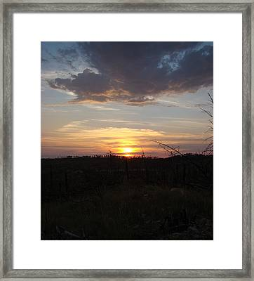 Framed Print featuring the photograph Black Hills Sunset IIi by Cathy Anderson