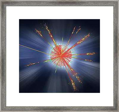 Black Hole Event Framed Print by Cern