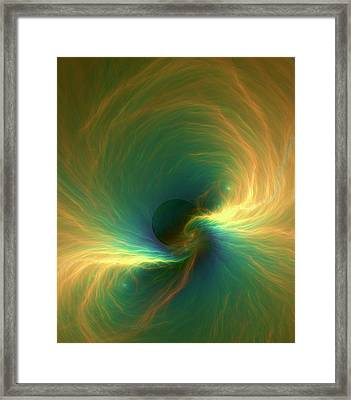 Black Hole Event Horizon Framed Print