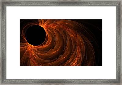 Black Hole Framed Print by Lourry Legarde