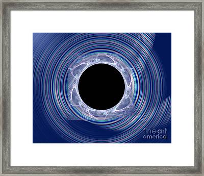 Framed Print featuring the digital art Black Hole by Victoria Harrington