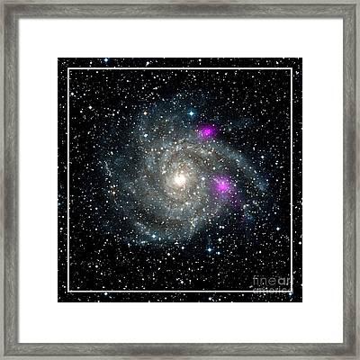 Black Holes In Spiral Galaxy Nasa Framed Print by Rose Santuci-Sofranko