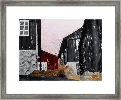 Black Houses Framed Print
