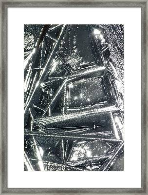 Framed Print featuring the photograph Black Ice by Jane Ford
