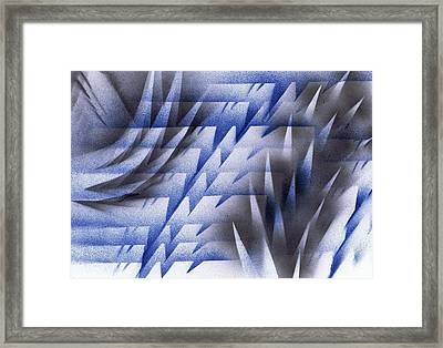 Framed Print featuring the painting Black Ice by Kenneth Clarke