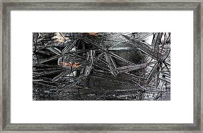 Black Ice Framed Print by Kenny Glotfelty