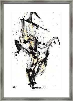 Framed Print featuring the painting Black Is White White Is Black by Kris Haas