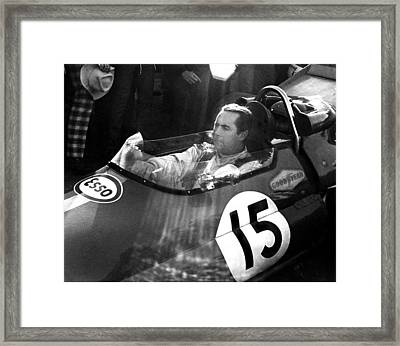 Black Jack Brabham Framed Print by Mike Flynn