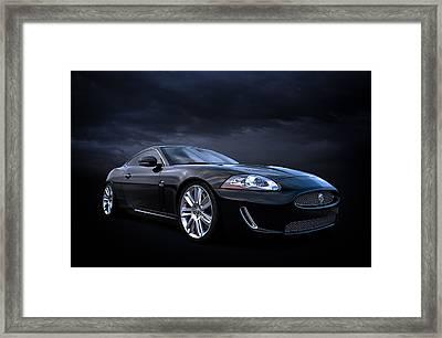 Black Jaguar Framed Print