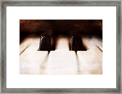 Black Keys D Flat And E Flat  Framed Print
