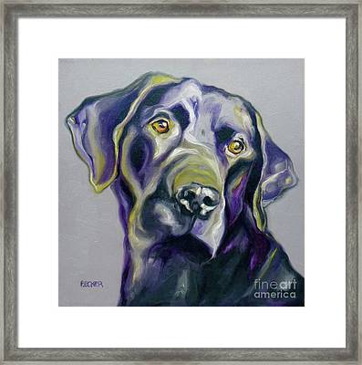 Black Lab Prize Framed Print