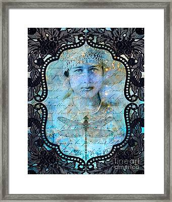 Black Lace Framed Print by Judy Wood