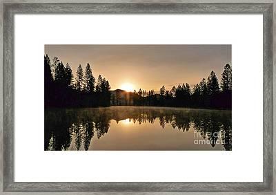 Black Lace Sunrise Framed Print