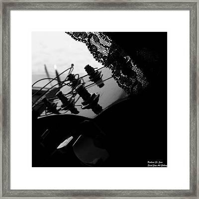 Black Lace Valentine Framed Print by Barbara St Jean