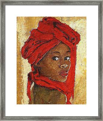 Black Lady No. 12 Framed Print by Janet Ashworth