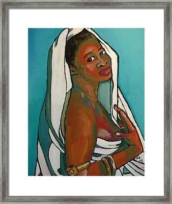 Black Lady No. 5 Framed Print by Janet Ashworth