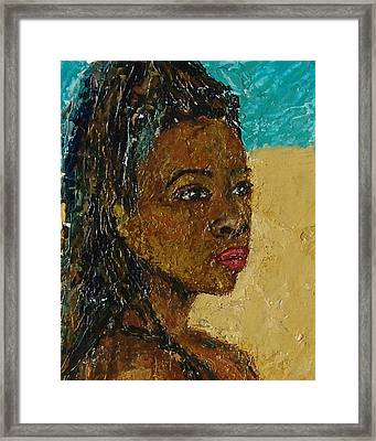 Black Lady No.9 Framed Print by Janet Ashworth