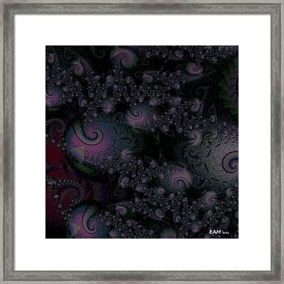 Framed Print featuring the digital art Black Light Reveal by Elizabeth McTaggart