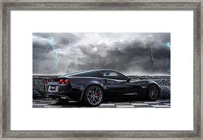 Black Lightning Framed Print