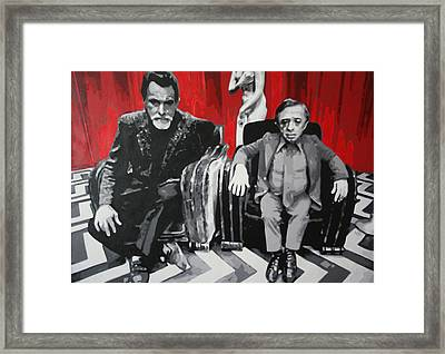 Black Lodge Framed Print by Ludzska