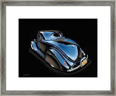 Black Low And Gorgeous Framed Print