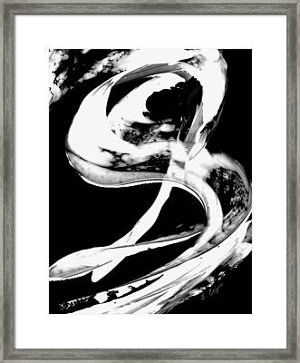 Black Magic 307 Inverted Framed Print by Sharon Cummings