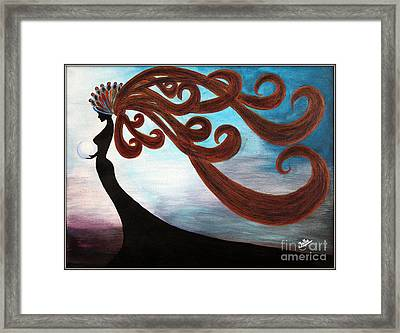 Black Magic Woman Framed Print by Jolanta Anna Karolska