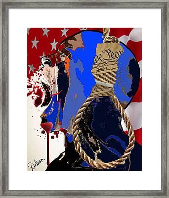 Black Man Framed Print by Delvon