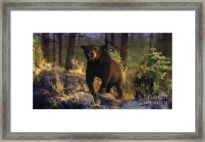 Framed Print featuring the painting Black Max by Rob Corsetti