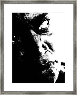 Framed Print featuring the photograph Black Miracle Portrait 12 by Cleaster Cotton