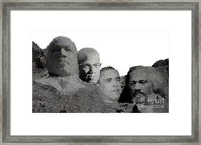Black Mount Rushmore Framed Print by Baltzgar
