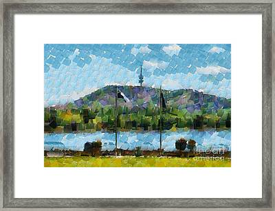 Black Mountain View Framed Print