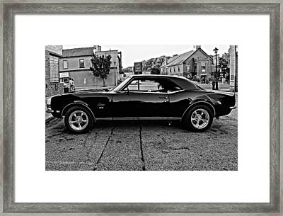 Black Muscle Monochrome Framed Print by Steve Harrington